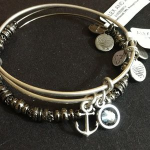 "ALEX AND ANI SWARVOSKI ""STRENGTH""TWIN SET!"